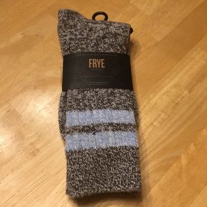 Frye Super Soft Boot Socks Athletic Stripe, NWT